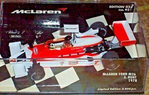 MINICHAMPS 1/43 MCLAREN FORD M26 1978 JAMES HUNT 530784307 Limited Ed. 2808 pcs