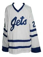 Any Name Number Size Johnstown Jets Custom Hockey Jersey Carlson White