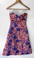 ELLIATT stunning Printed A Line Midi Strapless Dress Size XS BNWT 6-8
