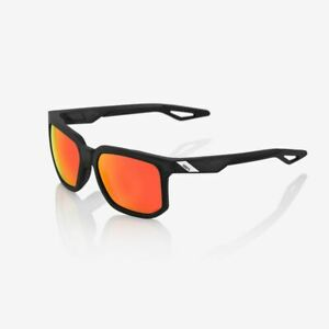 100% Centric Sunglasses: Soft Tact Crystal Black w/HiPER Red Multilayer Mirror