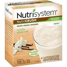 NUTRI SYSTEM Nutri Crush Vanilla Shake Mix 5 packets