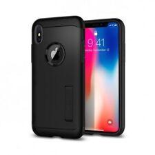 Fundas y carcasas Spigen de plástico de color principal negro para teléfonos móviles y PDAs