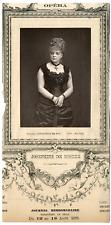 Lemercier, Paris, artiste, Opéra, Joséphine de Reszke (1855-1891) Vintage Print,