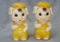 Vintage Anthropomorphic Pigs in Overalls Salt and Pepper Shakers Made in Japan
