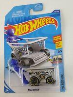 Hot Wheels #122 HW Ride-Ons 2/5 AISLE DRIVER Silver Blue Figure shopping (bs)