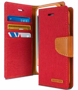 For Apple / SamsungS21 Case Canvas Flip Wallet Case Denim Card Pocket