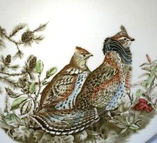 """JOHNSON BROTHERS GAME BIRDS 11"""" OVAL PLATE RUFFED GROUSE"""
