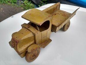 "HERCULES 1920's J. Chein Tin Litho Open C Cab Mack Coal/Army Truck 19""Long."