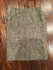 Escada Tan Tweed Wool Pencil Skirt Size 4 (US) 36 (EU)