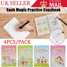 More details for 1/2set reusable children 3d copybook for math drawing numbers books handwriting