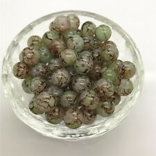 DIY 100 Pcs 4mm Round Pearl Loose Beads Double Colors Glass Jewelry Making #39