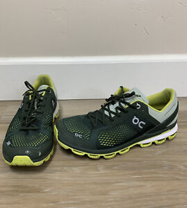 On Cloud Cloudsurfer Men's Green Beige Lime Green Running Shoes Size 9