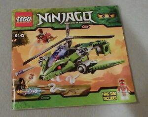Lego NINJAGO Instruction Manual Only #9443 Rattlecopter