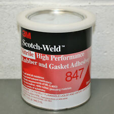 New listing 3M Scotch-Weld Nitrile Rubber Gasket Adhesive 847, 1 Quart / 32 oz, Can, Brown