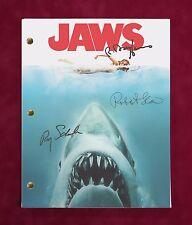 "Jaws Movie Script W/ Reproduction Signatures Scheider Shaw & Dreyfuss ""C3"""