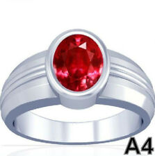 5-11 CT African 100% Natural Vedic Ruby Streling Silver Awesome Quality Ring A4