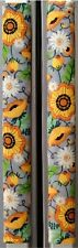 Refrigerator Oven Door Padded Handle Covers Sunflowers Assorted Set of Two