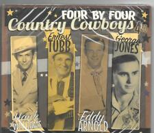 Country Cowboys 4 CD SET HANK WILLIAMS ERNEST TUBB GEORGE JONES EDDY ARNOLD NEW