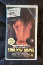 Shallow Grave (VHS) rare slasher not on DVD prism cutbox horror not rated