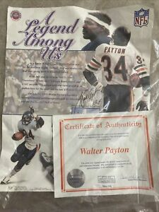 Walter Payton Poster Signed With A Signed Certificate Of Authenticity