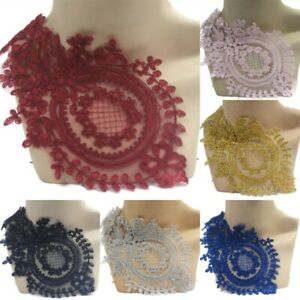 Wine Pink Gold Grey Blue Navy Lace Applique for Bridal Dance Costume #189