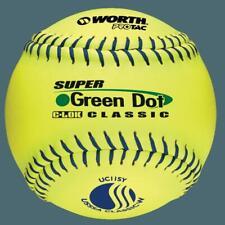 "Worth 11"" USSSA Super Green Dot Classic W Softballs (Dozen): UC11SY"