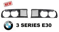 NEW BMW E30 3-Series 1982-1994 Front Headlight Gril Grills SET Left + Right