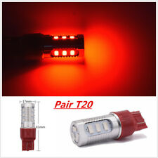 2Pc  7443 Car Red Stop Brake Flash Strobe Blinking Rear Alert Safety Tail Lights