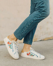 NEW Soludos Women's Ibiza Embroidered Flower Sneaker *BLUSH SZ: 5.5