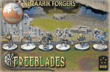 DGS GAMES - FREEBLADES: KUZAARIK FORGERS STARTER BOX - 32MM FANTASY WARGAME