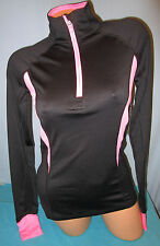 TEK GEAR~XS X-SMALL~Black & Pink 1/2 Zip Colorblock Mockneck Jacket