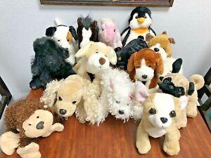 Ganz Webkinz Signature Lot Of 15 Plush Toys Stuffed Animals Dogs No Codes