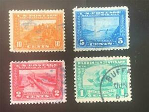 US SCOTT Cat # 397, 398, 399, 400 vf- XF Set of USED Stamps Panama-Pacific