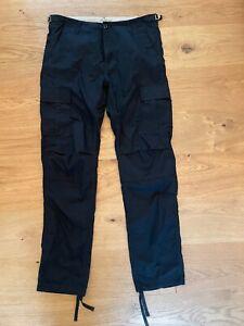 CARHARTT - Aviation Cargo Pants Hose Workwear Custom BLACK Gallery W 33 - L 34