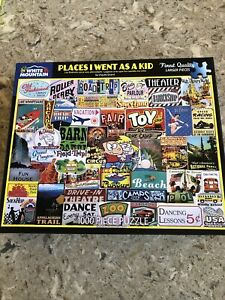White Mountain Puzzles Places I Went As A Kid 1000 Piece Puzzle