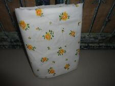 VINTAGE SPRINGMAID PRINCESS ROSE PERCALE GOLDEN ORANGE FLORAL FULL FLAT SHEET