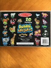 Melissa And Doug Animal Magnets With Box 19 Pieces