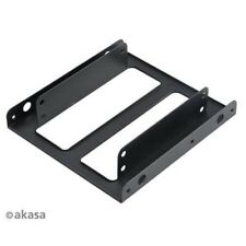 "Akasa Dual 2.5 SSD/HDD Mount Fit 2 x 2.5"" in a 3.5"" bay Fit Laptop Hard Drive PC"