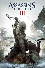 UBISOFT XBOX 360 ASSASSINS CREED 3 KEY ART VIDEO GAME POSTER 22x34 FREE SHIPPING