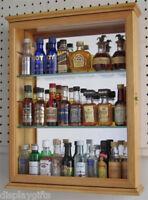 Mini Liquor Bottles Display Case Cabinet Wall Curio Cabinet , PFCD06-OA