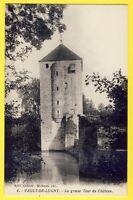 cpa 89 - VAULT de LUGNY (Yonne) La grosse TOUR du CHÂTEAU DONJON carré et DOUVES