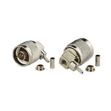 10 Stück N Stecker rechtwinkliger Crimp Lötverbinder für RG316 RG174 LMR-100