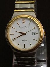 mathey tissot Since 1886,38mm case White Face Gold Dail,Date Gold Design Bezel