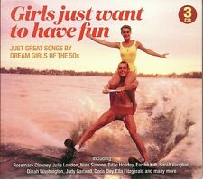 GIRLS JUST WANT TO HAVE FUN - 3 CD BOX SET - SONGS BY DREAM GIRLS OF THE 50s