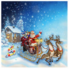 DIY Xmas 5d Diamond Painting Craft Home Elegant Christmas Santa Clausdecor Gift