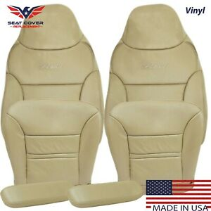 2000 2001 Ford Excursion Limited XLT Vinyl Full Front Package Seat Covers Tan