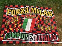 Alte Fahne AC Mailand Flagge Forza Milan Campione d' Italia Fussball