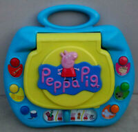Educational Interactive My First PEPPA PIG LAPTOP 123 ABC Sounds Lights Musical