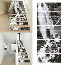 13Pcs 3D Waterfall Stair Risers Decor Photo Mural Decal Wall Sticker Paper DIY