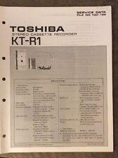 Toshiba Service Data Kt-R1 Cassette Recorder - Original
